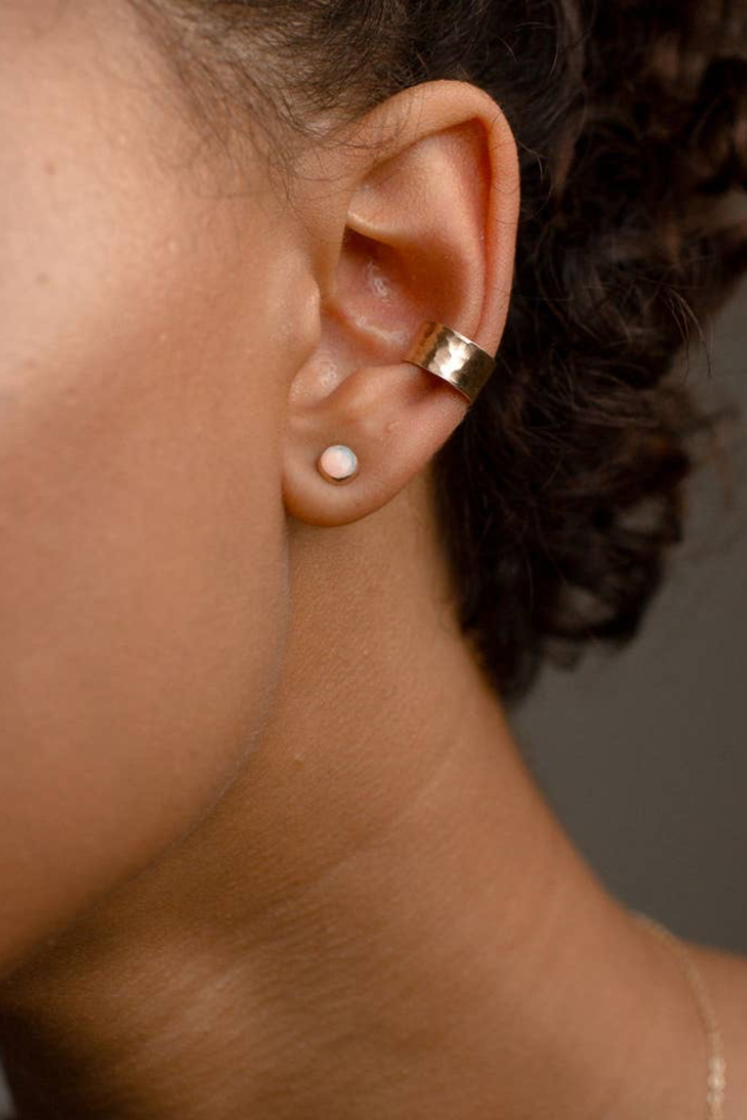 Token Jewelry  Hammered Ear Cuff - Front Full Image