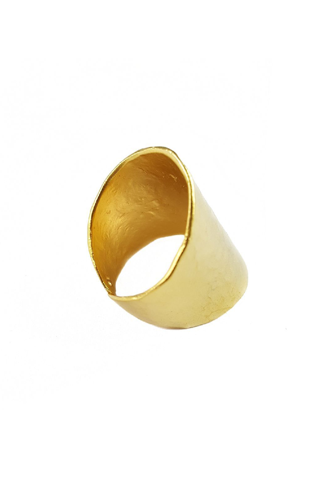 Fabulina Designs Hammered Gold Cuff Ring - Front Full Image