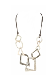 Alisha D Hammered Gold Necklace - Product Mini Image