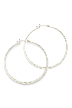 Amano Trading, Inc. Hammered Hoop Earrings - Alternate List Image