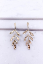 AL Boutique Hammered Leaf Earrings - Product Mini Image