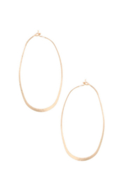 Art Box Hammered Oval Hoops - Product Mini Image