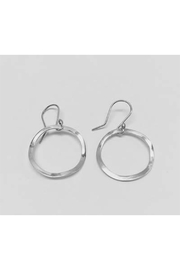 Cornithian Sterling Silver Jewelry Hammered Small Hoop Earrings - Product Mini Image