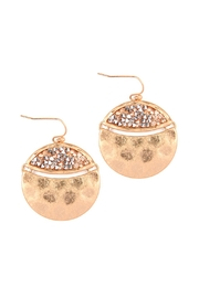 Riah Fashion Hammered Statement Earrings - Product Mini Image