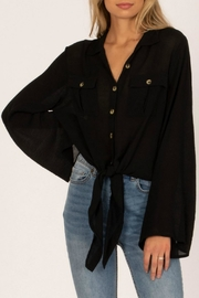 AMUSE SOCIETY Hammock Woven Top - Front cropped