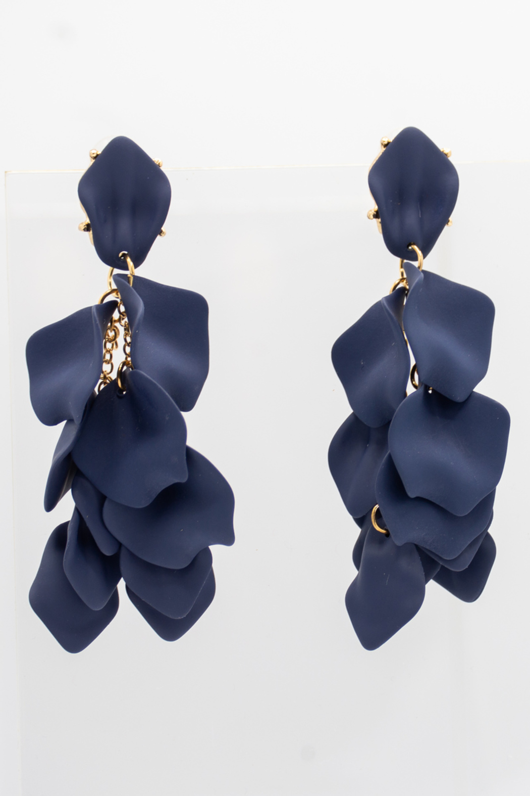 SHIVER + DUKE Hampton Petal Dangle Earrings - Front Full Image