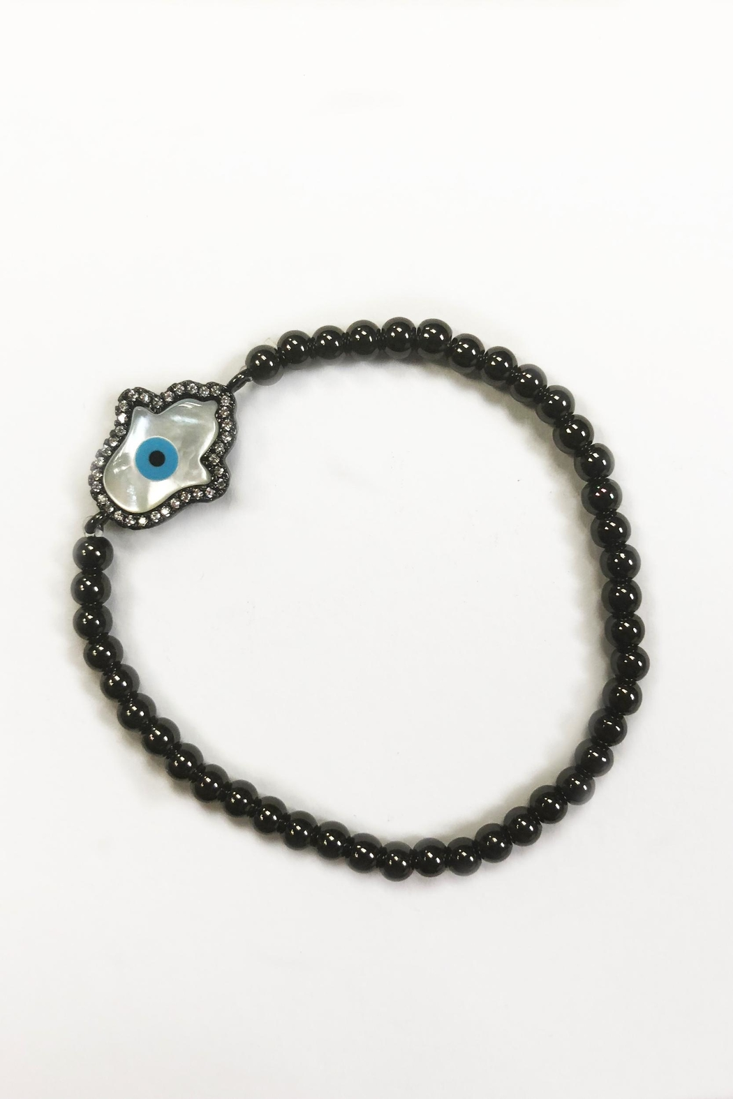 Lets Accessorize Hamsa Bead Bracelet - Front Cropped Image