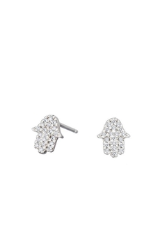 Alefbet Hamsa Earrings - Alternate List Image