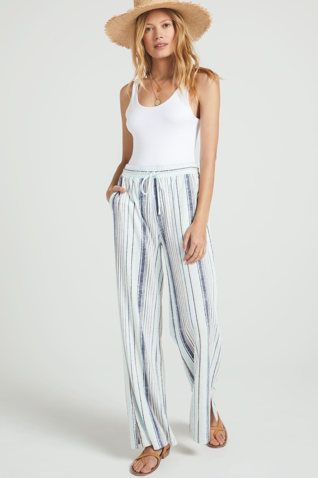 z supply Hana Stripe Pant - Front Cropped Image
