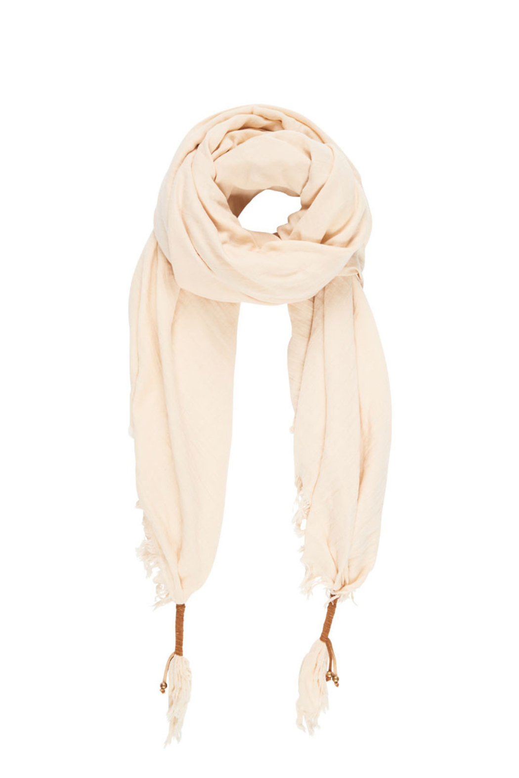 Spell & the Gypsy Collective Hanalei Travel Scarf in Sand - Front Full Image