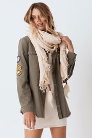 Spell & the Gypsy Collective Hanalei Travel Scarf in Sand - Front cropped