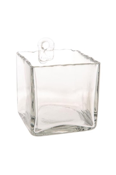Shoptiques Product: Hand Blown Glass Wall Vase Square