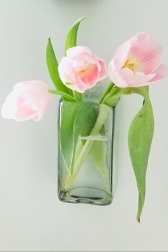 Shoptiques Product: Hand Blown Hanging Glass Wall Vase Tall