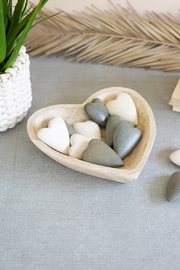 Kalalou Hand Carved Wooden Heart Bowl - Product Mini Image