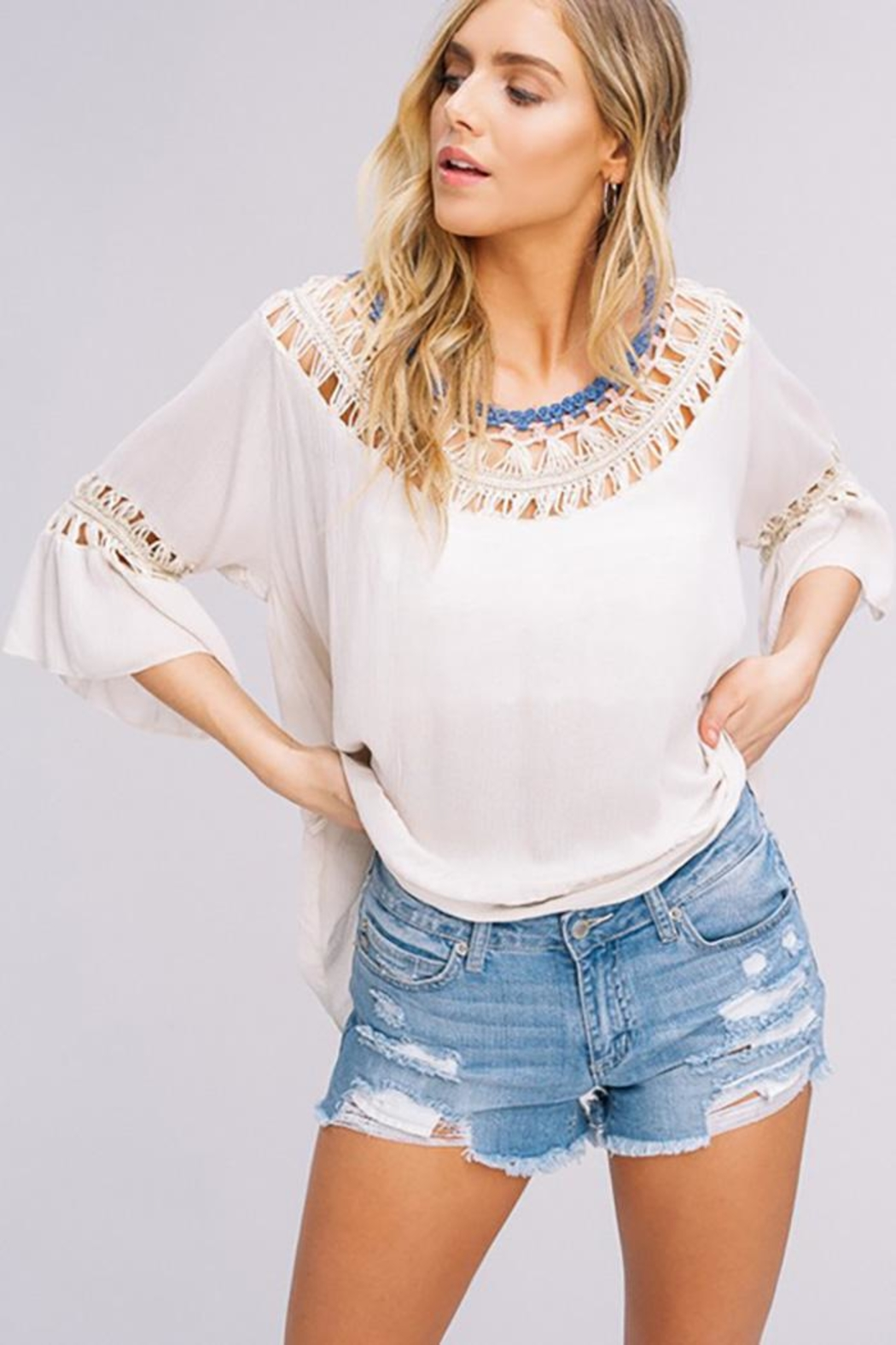 Listicle Hand Crochet Top - Main Image