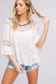 Listicle Hand Crochet Top - Back cropped