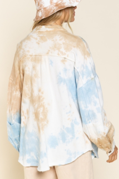POL Hand Dip Dyed French Terry Shacket - Alternate List Image
