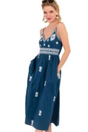 Gretchen Scott  Hand Embroidered Dress-Fiesta Time - Product Mini Image