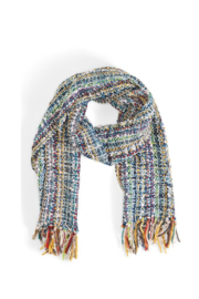 Two's Company Hand Knit Scarf w/ Tassels - Side cropped