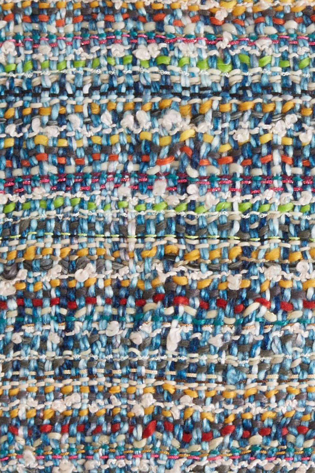 Two's Company Hand Knit Scarf w/ Tassels - Back Cropped Image