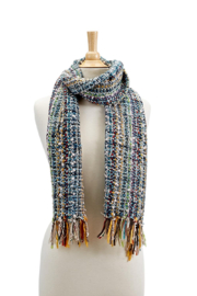 Two's Company Hand Knit Scarf w/ Tassels - Front full body