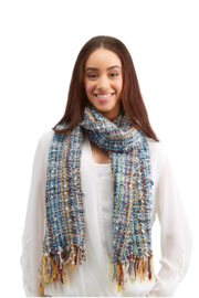 Two's Company Hand Knit Scarf w/ Tassels - Other