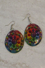 KIMBALS Hand Made Oval Earring - Front cropped