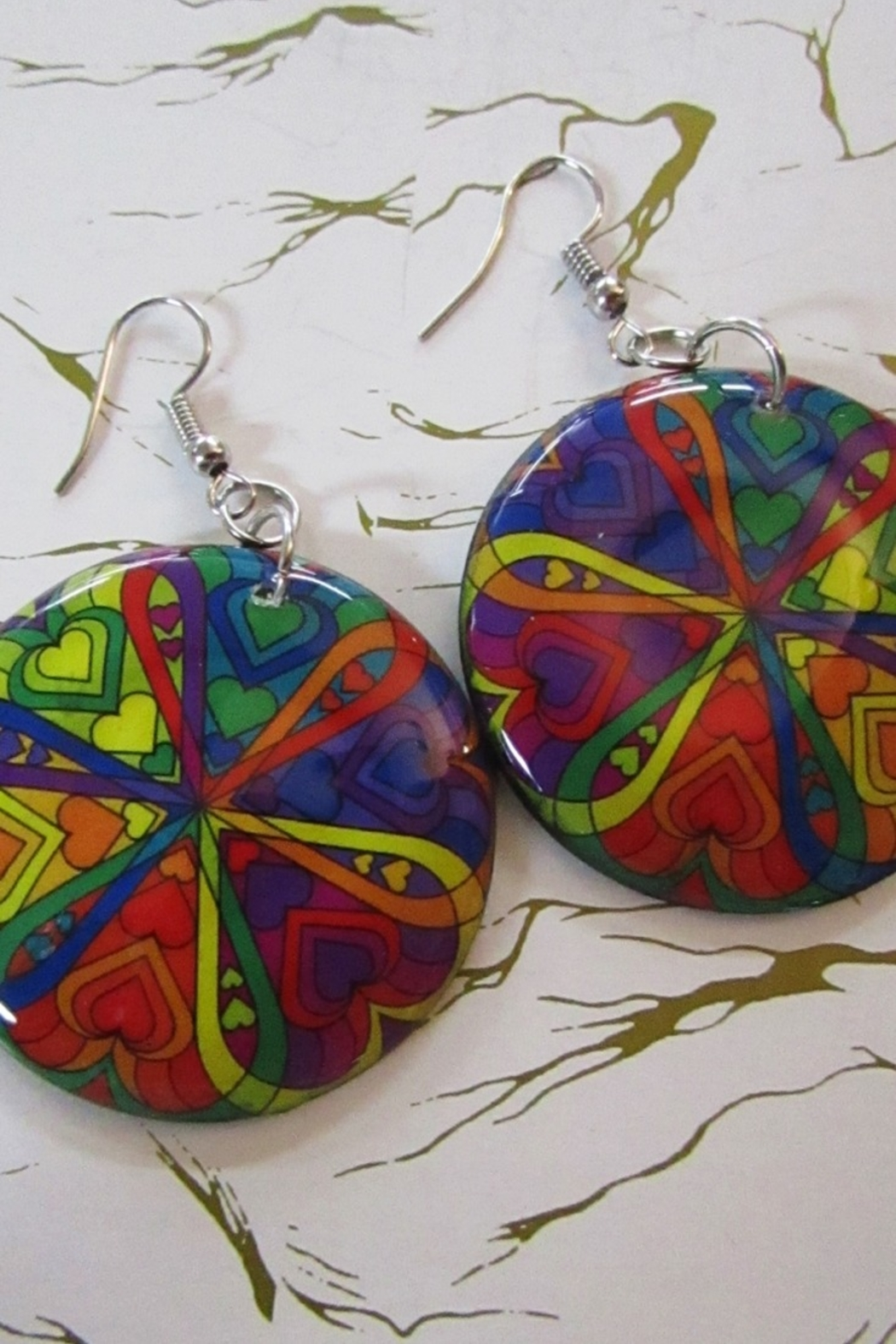 KIMBALS HAND PAINTED DROP EARRING - Main Image