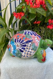 angelita Hand Painted Glazed Turtle Outdoor Decor - Product Mini Image