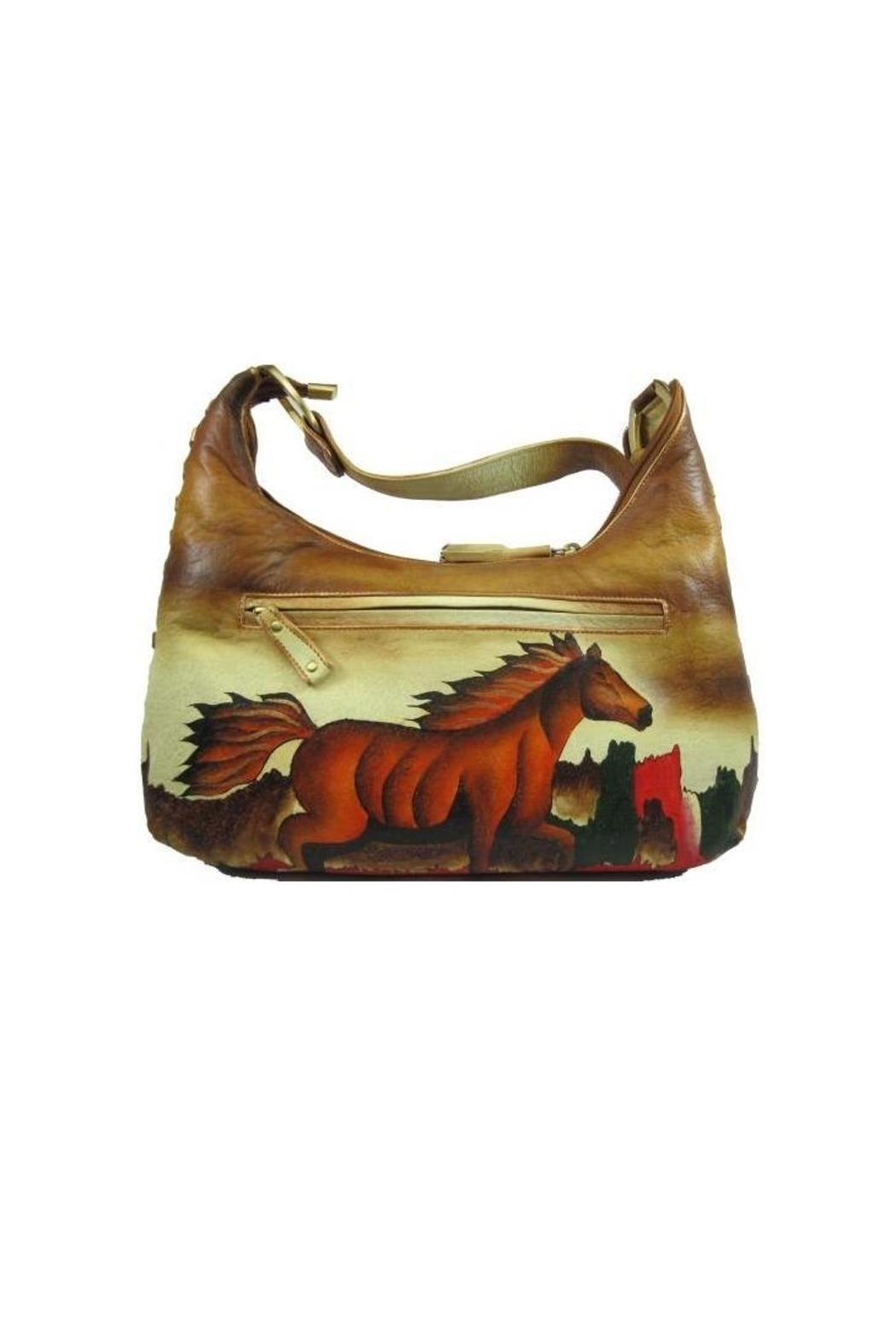 Magnifique Bags Hand-Painted Horse Purse - Front Full Image