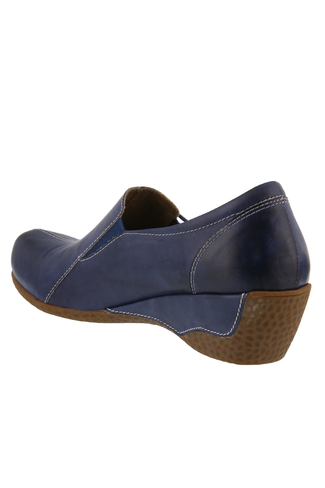 Spring Footwear Hand-Painted Leather Loafer - Side Cropped Image