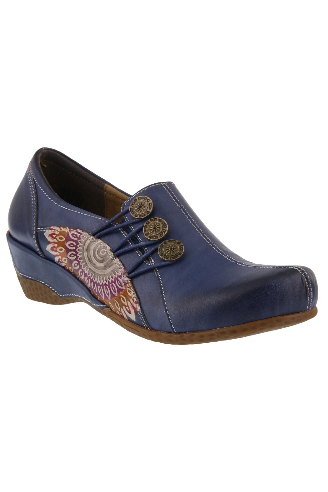 Spring Footwear Hand-Painted Leather Loafer - Main Image