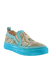 Spring Footwear Hand-painted Leather Slip on - Product Mini Image