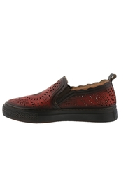 Spring Footwear Hand-painted Leather Slip on - Front full body