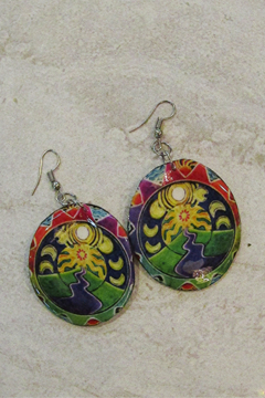 KIMBALS Hand Painted Oval Earring - Alternate List Image