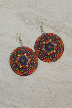 KIMBALS Hand Painted Round Earring - Alternate List Image