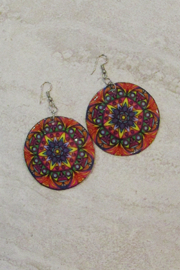 KIMBALS Hand Painted Round Earring - Product Mini Image