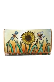 Magnifique Bags Hand-Painted Sunflower Wallet - Product Mini Image