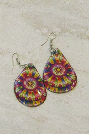 KIMBALS Hand Painted Tear Drop Earring - Product Mini Image