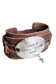 The Jewelry Junkie Hand Stamped Cuff - Front cropped