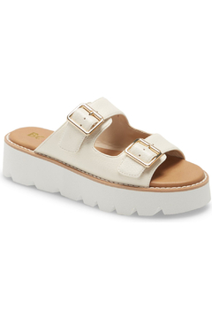 BC Footwear Hand To Hold White Leather Sandal - Product List Image