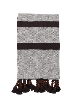 Foreside Home & Garden Hand Woven Dixie Stripe Throw Black - Product List Image