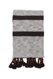 Foreside Home & Garden Hand Woven Dixie Stripe Throw Black - Product Mini Image
