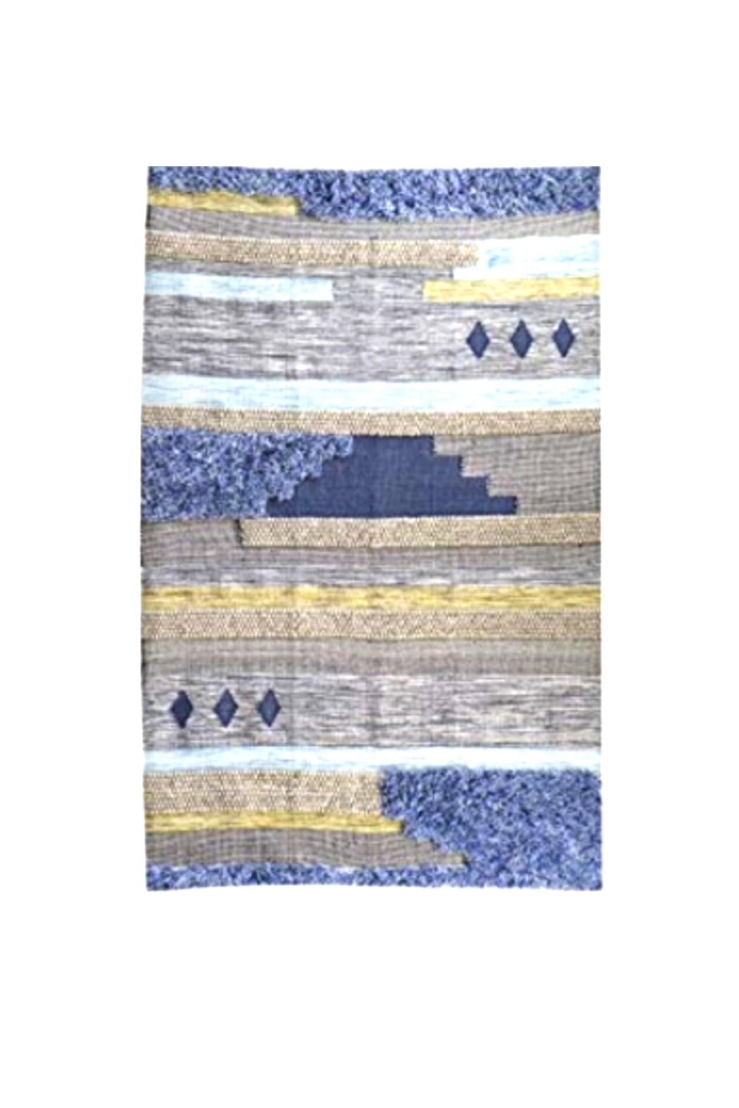 Bloomingville Hand Woven Fringe Rug - Side Cropped Image