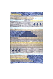 Bloomingville Hand Woven Fringe Rug - Side cropped