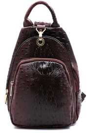 Handbag Republic Faux Ostrich Backpack - Front cropped