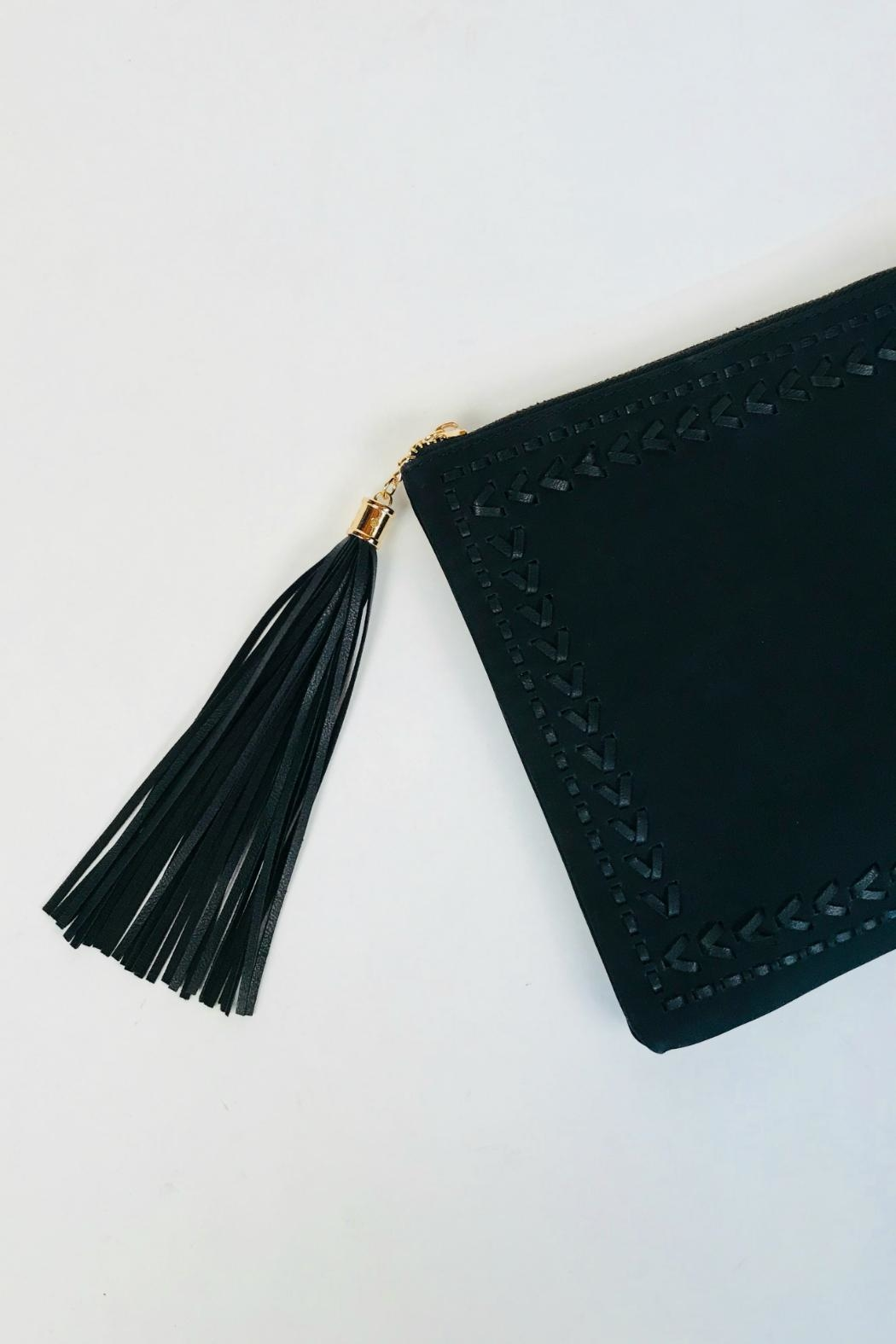 Handbag Republic Stitched Tassel Clutch - Front Full Image