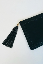 Handbag Republic Stitched Tassel Clutch - Front full body