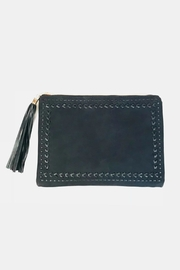 Handbag Republic Stitched Tassel Clutch - Front cropped