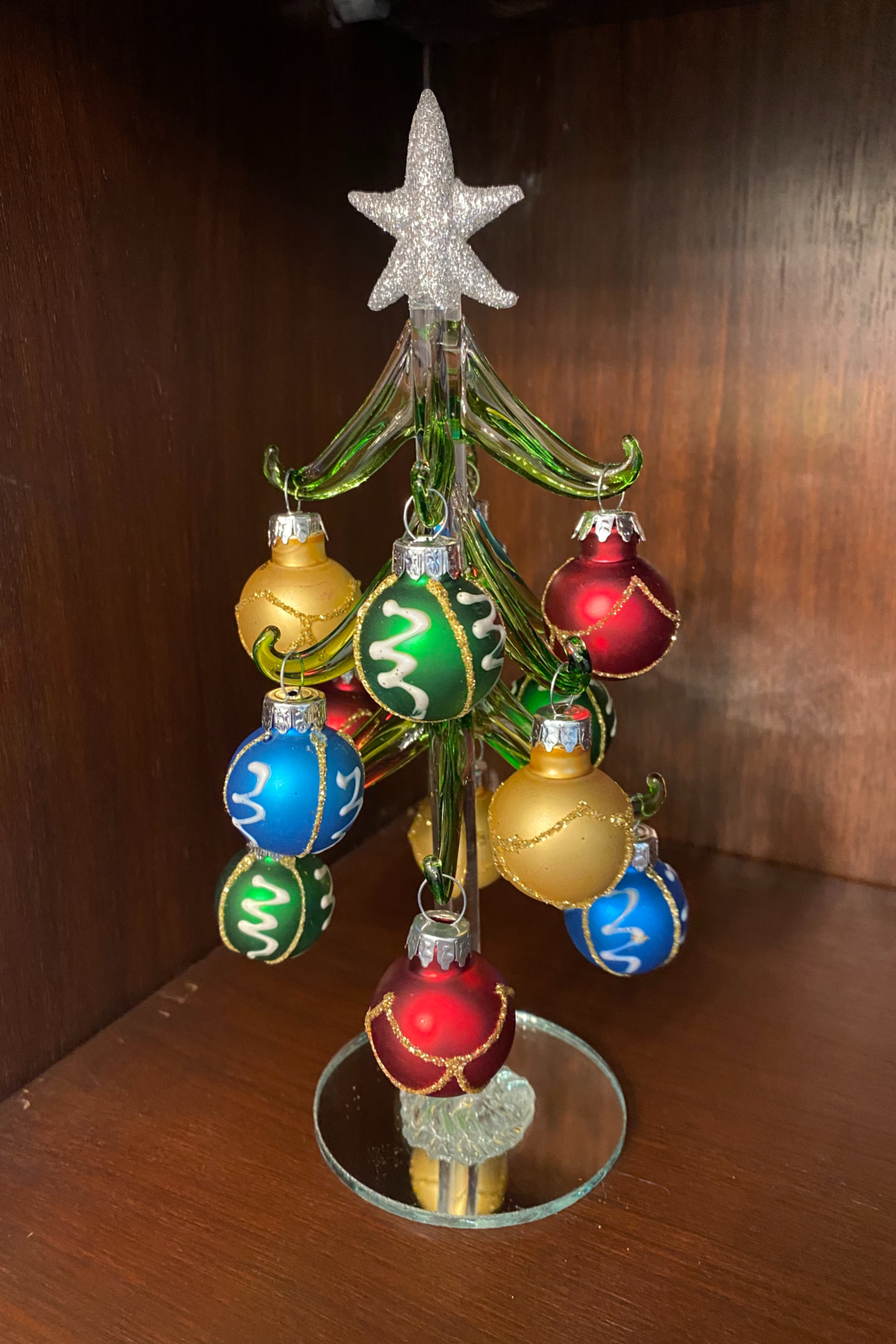 tesoro  Handblown Glass Tree with Assorted Glass Ornaments - Front Cropped Image